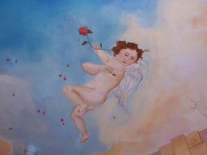 boy-cherub-sky-ceiling-mural